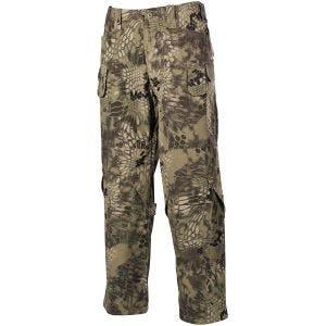 Pantalones MFH Mission Combat de Ripstop en Snake FG