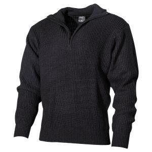Suéter MFH Navy de acrílico en negro