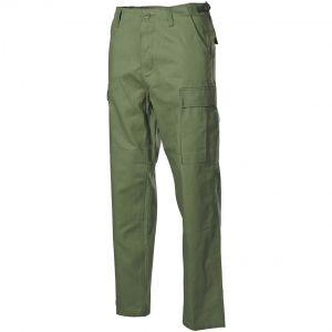 Pantalones MFH BDU Combat de Ripstop en verde oliva