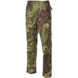 Pantalones MFH BDU Combat de Ripstop en Vegetato Woodland