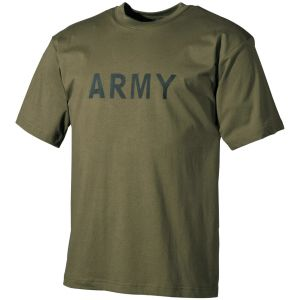 Camiseta MFH en verde oliva con estampado militar
