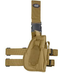 Funda de pistola para pierna derecha MFH en Coyote Tan