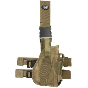 Funda de pistola para pierna derecha MFH en HDT Camo FG