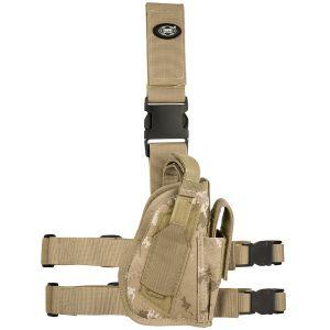 Funda de pistola para pierna derecha MFH en Vegetato Desert