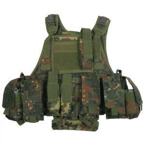 Chaleco MFH Tactical con sistema MOLLE en Ranger Flecktarn