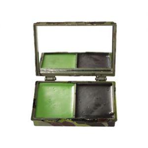 Pintura facial de camuflaje con espejo Mil-Tec de 2 colores en Woodland