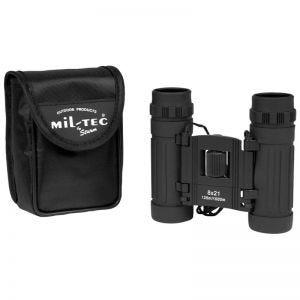 Prismáticos ajustables Mil-Tec 8x21 en negro