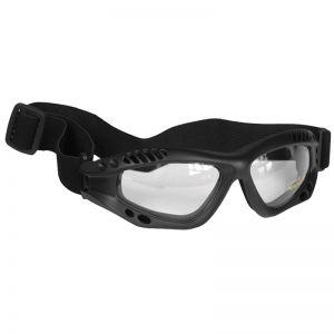 Gafas de protección Mil-Tec Commando Air Pro con lentes transparentes y montura en negro