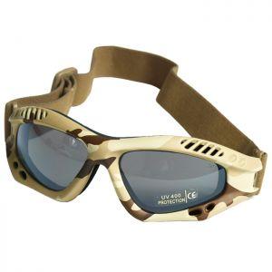 Gafas de protección Mil-Tec Commando Air Pro con lentes ahumadas y montura en Desert