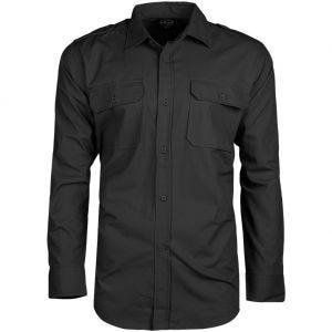 Camisa de manga larga Mil-Tec de tejido RipStop en negro