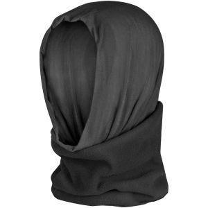 Pañuelo multifunción de poliéster y forro polar para la cabeza Mil-Tec en negro