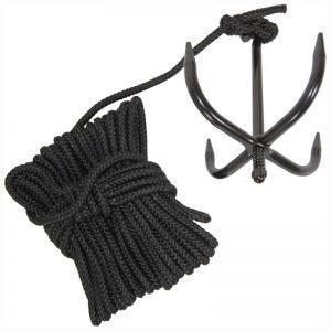 Cuerda Mil-Tec con ancla en negro