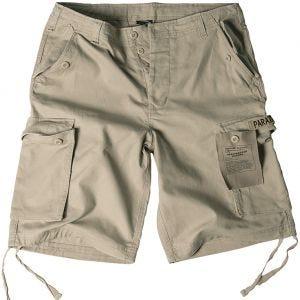 Pantalones cortos prelavados estilo cargo de paracaidista militar Mil-Tec en caqui
