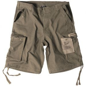 Pantalones cortos prelavados estilo cargo de paracaidista militar Mil-Tec en verde oliva
