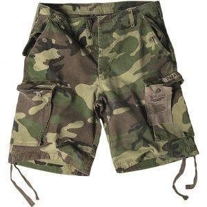 Pantalones cortos prelavados estilo cargo de paracaidista militar Mil-Tec en Woodland