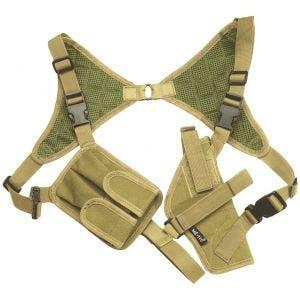 Funda de pistola para el hombro Mil-Tec Cordura en Coyote