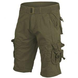 Pantalones cortos de supervivencia Mil-Tec prelavados de estilo vintage en verde oliva