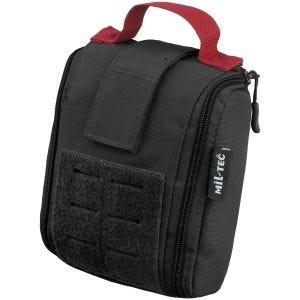 Bolsa cortada a láser Mil-Tec IFAK con kit de primeros auxilios de 25 piezas en negro