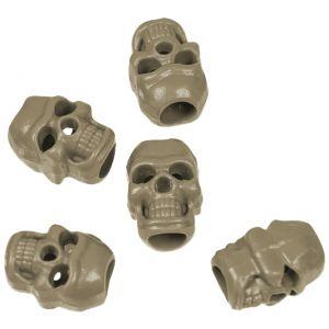 Topes para cordones Mil-Tec Skull en Coyote