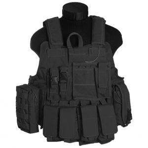 Chaleco de combate Mil-Tec M.Release con sistema MOLLE en negro