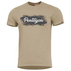 Camiseta al estilo grunge Pentagon Ageron en caqui