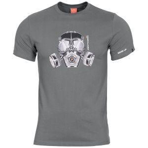 Camiseta Pentagon Ageron Gas Mask en Wolf Grey