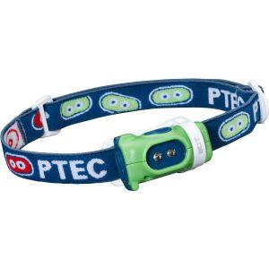 Linterna frontal Princeton Tec Bot con luz LED blanca con carcasa en verde / azul