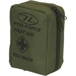 Set de primeros auxilios Pro-Force First Aid Midi en verde oliva