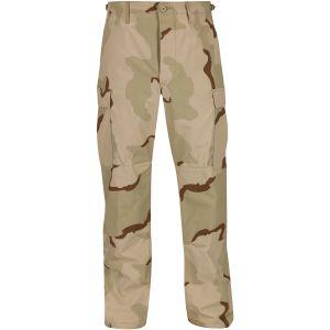 Pantalones Propper BDU de Ripstop de algodón con bragueta abotonada en Desert 3 Colores