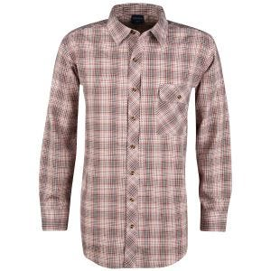Camisa abotonada de manga larga Propper Covert en Barn Red Plaid