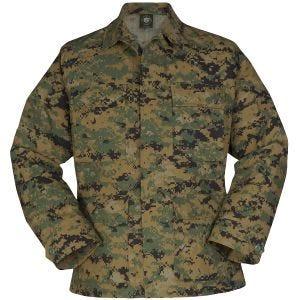 Chaqueta de uniforme de Ripstop de polialgodón Propper BDU en Digital Woodland