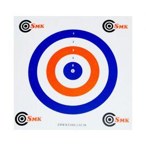 Pack de 100 dianas de tiro SMK de cartón de 14 cm en rojo / blanco / azul