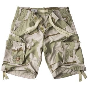 Pantalones cortos Surplus Airborne Vintage lavados a la piedra en 3-Colour Desert