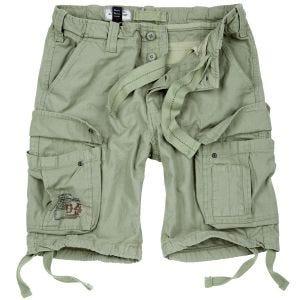 Pantalones cortos Surplus Airborne Vintage lavados a la piedra en Light Olive