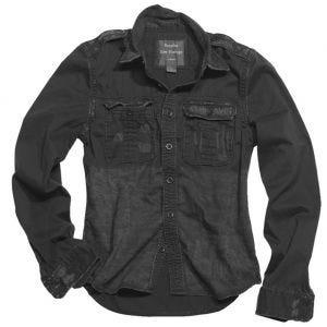 Camisa de manga larga Surplus Raw Vintage en negro
