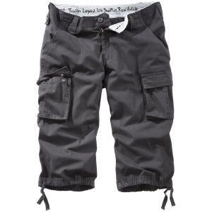 Pantalones piratas Surplus Trooper Legend en negro desgastado
