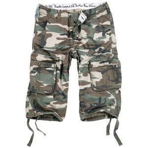 Pantalones piratas Surplus Trooper Legend en Woodland desgastado