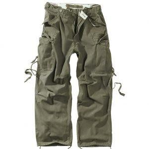 Pantalones de trabajo Surplus Vintage en verde oliva