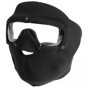 Mascara de neopreno con gafas protectoras Swiss Eye con lentes transparentes en negro