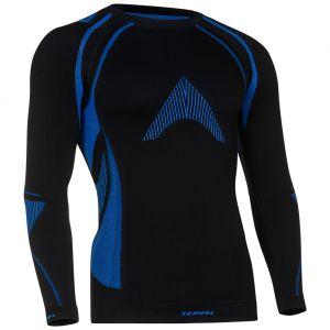 Camiseta de manga larga Tervel Optiline MOD-02 en negro / azul