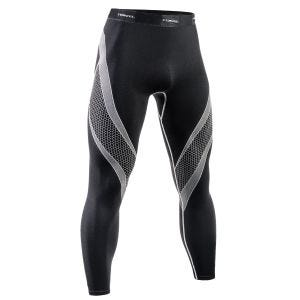 Leggings deportivos Tervel Optiline en negro / gris claro