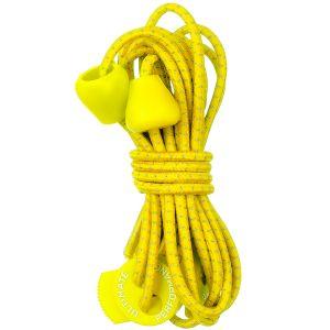 Cordones elásticos reflectantes Ultimate Performance en amarillo