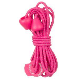 Cordones elásticos reflectantes Ultimate Performance en Hot Pink