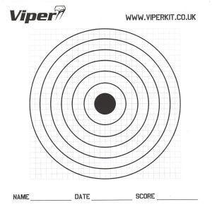 Pack de 100 dianas de tiro Viper Pro de papel de 17 cm