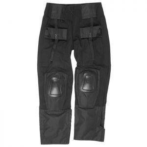 Pantalones con rodilleras Mil-Tec Warrior en negro