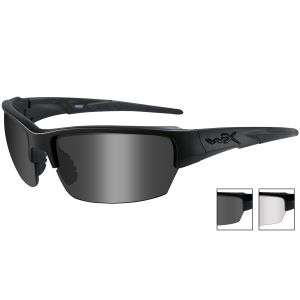 Gafas Wiley X WX Saint con lentes ahumadas grises + transparentes y montura en negro mate