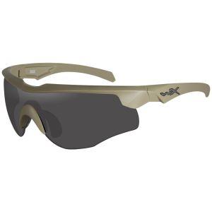 Gafas Wiley X WX Rogue Comm con lentes ahumadas + transparentes + naranja claro y montura en Tan