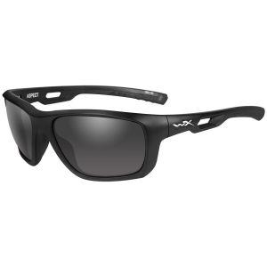 Gafas Wiley X WX Aspect con lentes ahumadas grises y montura en negro mate