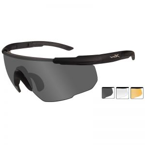 Gafas Wiley X Saber Advanced con lentes ahumadas + transparentes + naranja claro y montura en negro mate