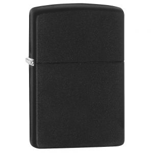 Mechero Lighter Zippo Regular en negro mate